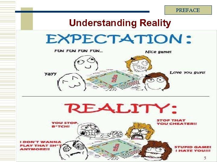 PREFACE Understanding Reality 5