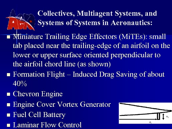Collectives, Multiagent Systems, and Systems of Systems in Aeronautics: Miniature Trailing Edge Effectors (Mi.