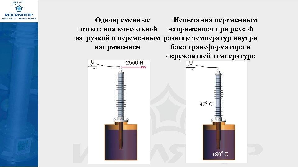 Одновременные Испытания переменным испытания консольной напряжением при резкой нагрузкой и переменным разнице температур внутри