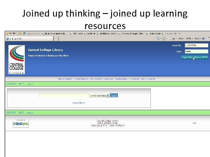 Joined up thinking – joined up learning resources