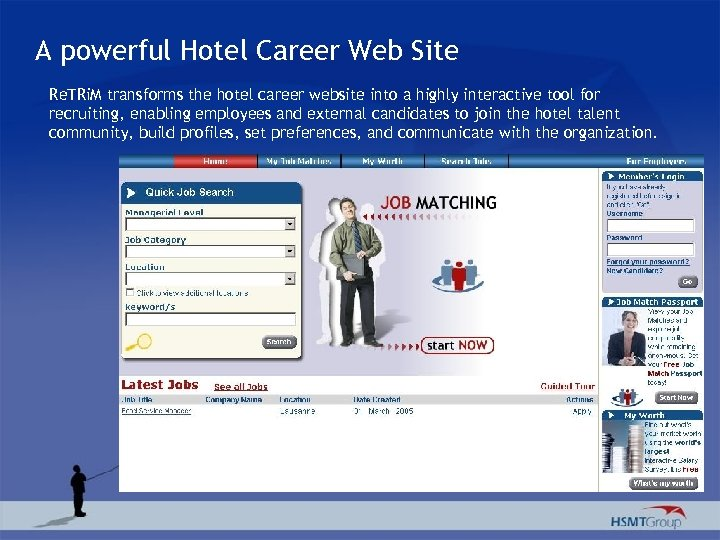 A powerful Hotel Career Web Site Re. TRi. M transforms the hotel career website