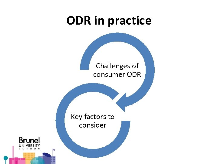 ODR in practice Challenges of consumer ODR Key factors to consider