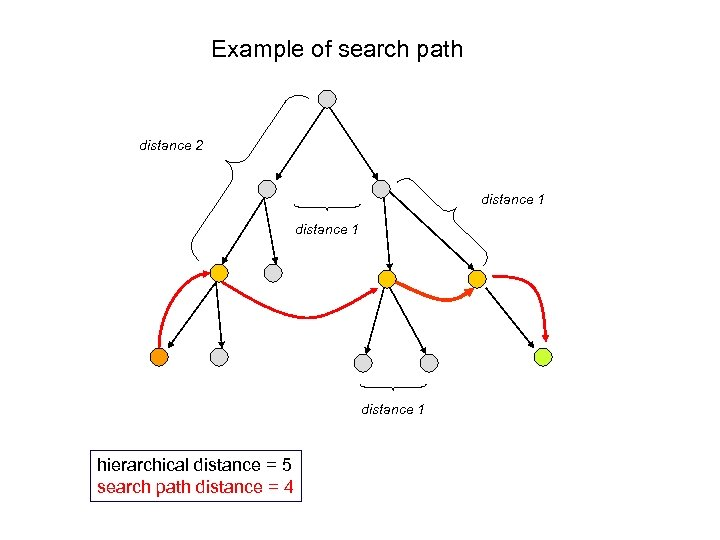 Example of search path distance 2 distance 1 hierarchical distance = 5 search path