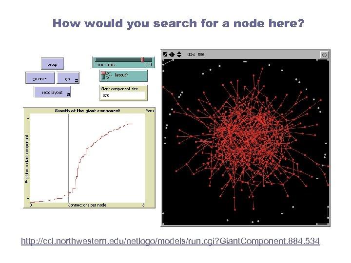 How would you search for a node here? http: //ccl. northwestern. edu/netlogo/models/run. cgi? Giant.