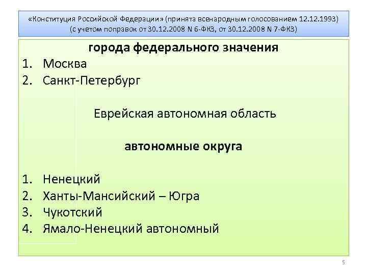 «Конституция Российской Федерации» (принята всенародным голосованием 12. 1993) (с учетом поправок от 30.