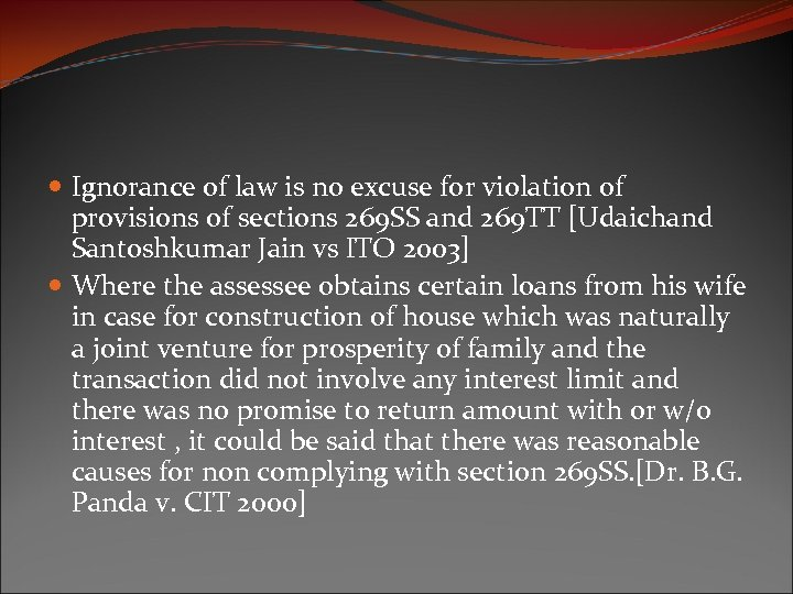Ignorance of law is no excuse for violation of provisions of sections 269