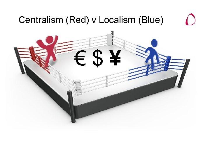 Centralism (Red) v Localism (Blue) €$¥
