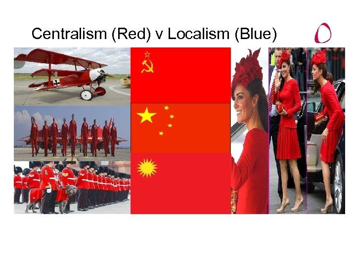 Centralism (Red) v Localism (Blue)