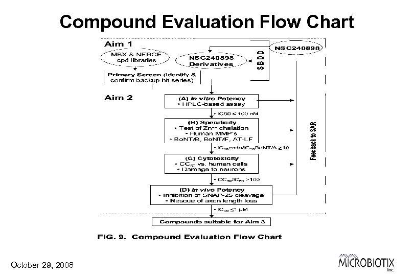 Compound Evaluation Flow Chart October 29, 2008