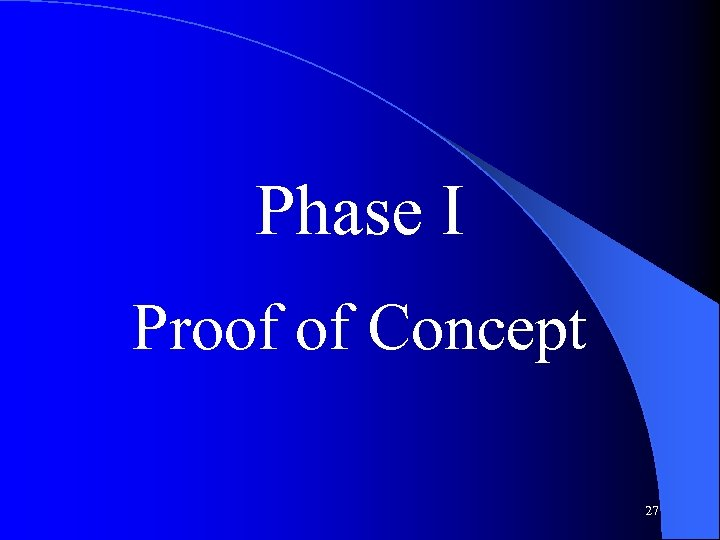 Phase I Proof of Concept 27
