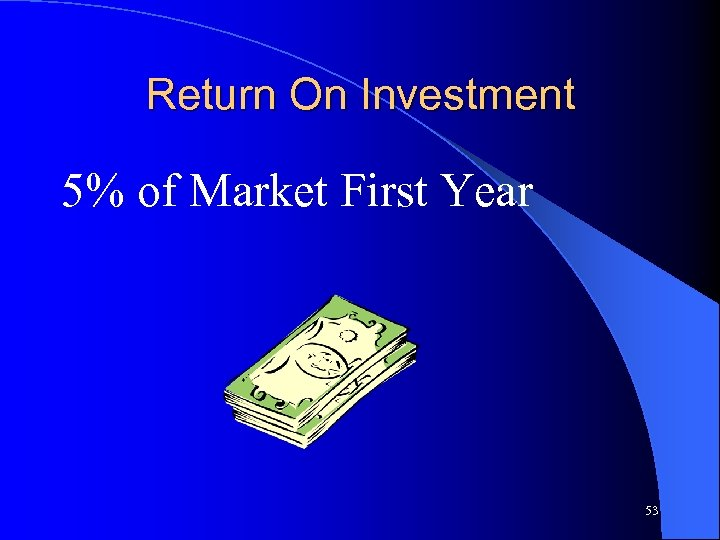 Return On Investment 5% of Market First Year 53