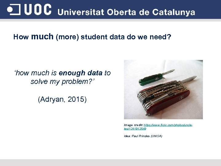 How much (more) student data do we need? 'how much is enough data to
