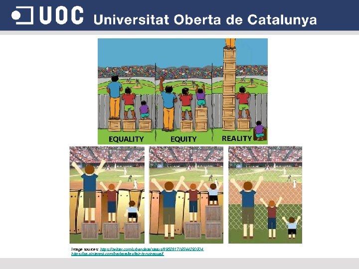 Image sources: https: //twitter. com/urbandata/status/695261718344290304 https: //za. pinterest. com/barbaralley/fair-is-not-equal/