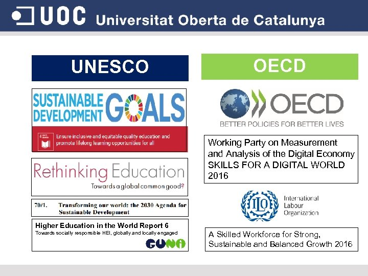 UNESCO OECD Working Party on Measurement and Analysis of the Digital Economy SKILLS FOR