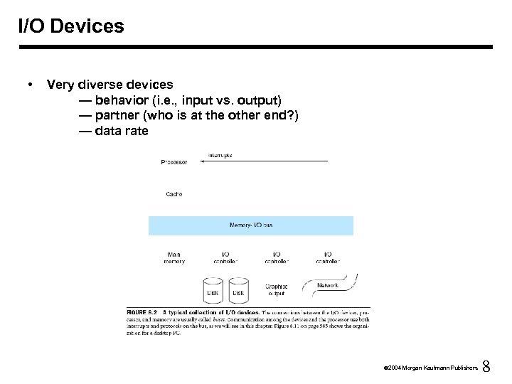 I/O Devices • Very diverse devices — behavior (i. e. , input vs. output)