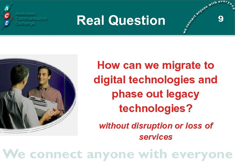 Real Question How can we migrate to digital technologies and phase out legacy technologies?