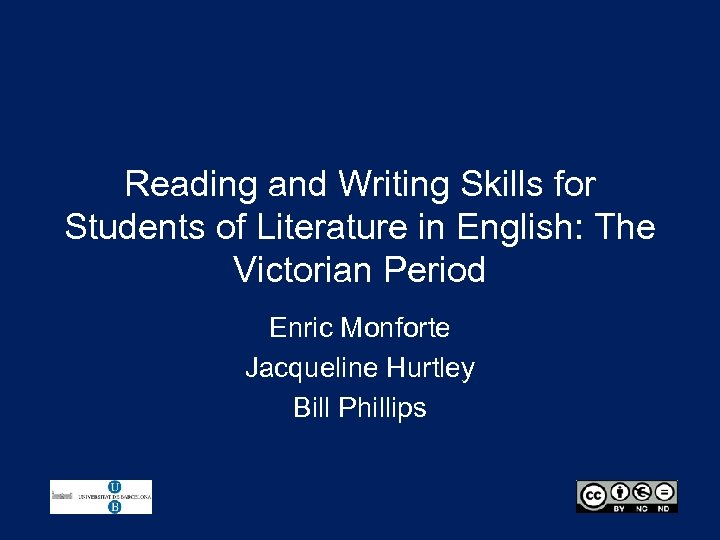 Reading and Writing Skills for Students of Literature in English: The Victorian Period Enric