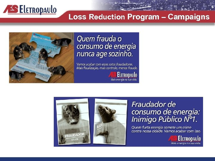 Loss Reduction Program – Campaigns