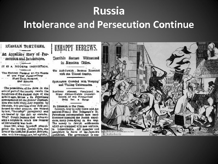 Russia Intolerance and Persecution Continue