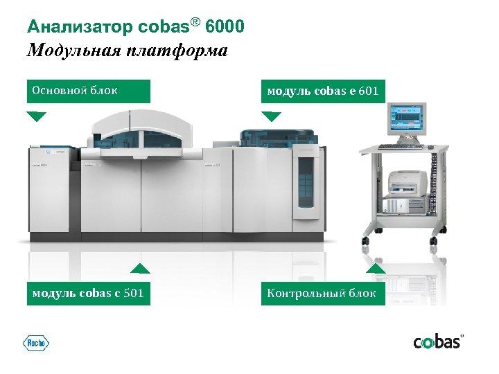 Анализатор cobas® 6000 Модульная платформа Основной блок модуль cobas e 601 модуль cobas c