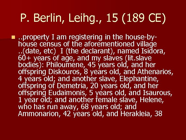 P. Berlin, Leihg. , 15 (189 CE) n . . property I am registering