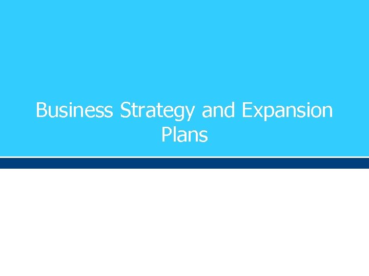 Business Strategy and Expansion Plans