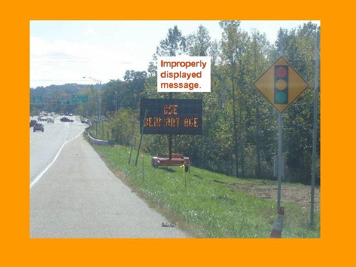 Improperly displayed message.