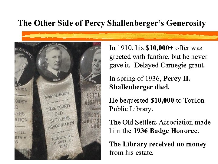 The Other Side of Percy Shallenberger's Generosity In 1910, his $10, 000+ offer was