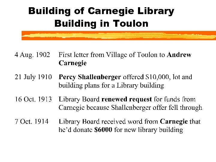 Building of Carnegie Library Building in Toulon