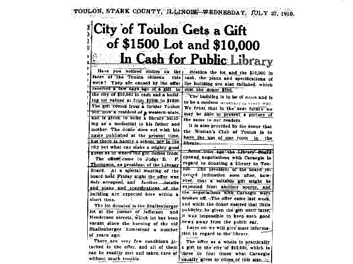 July 27, 1910 article