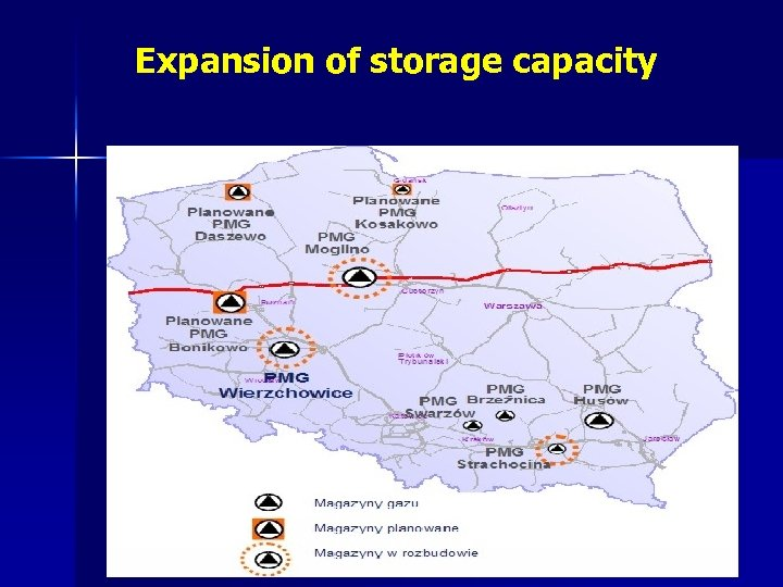 Expansion of storage capacity