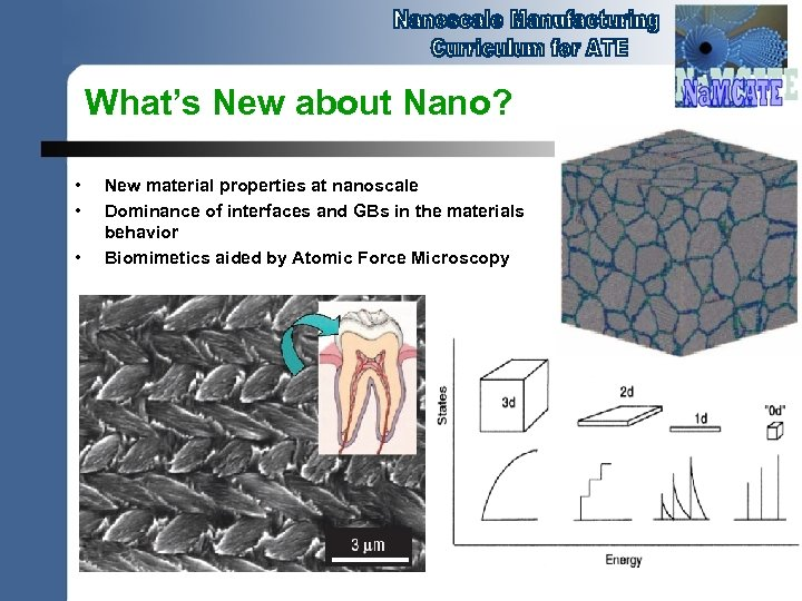What's New about Nano? • • • New material properties at nanoscale Dominance of