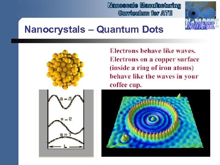 Nanocrystals – Quantum Dots