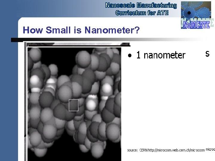 How Small is Nanometer? 1 nm = 10 -9 meter