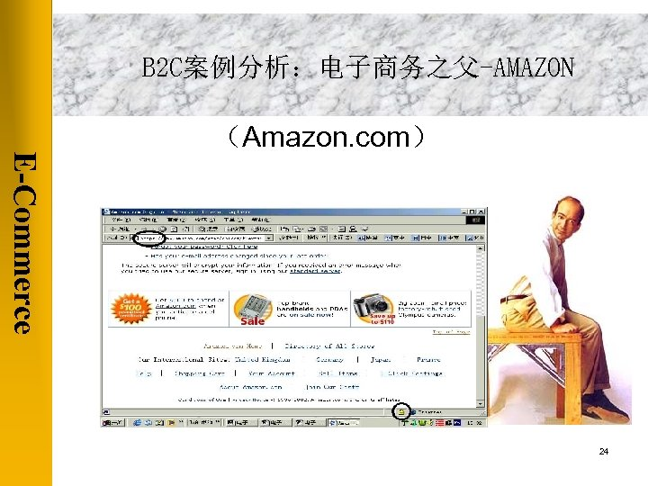 B 2 C案例分析:电子商务之父-AMAZON (Amazon. com) E-Commerce 24