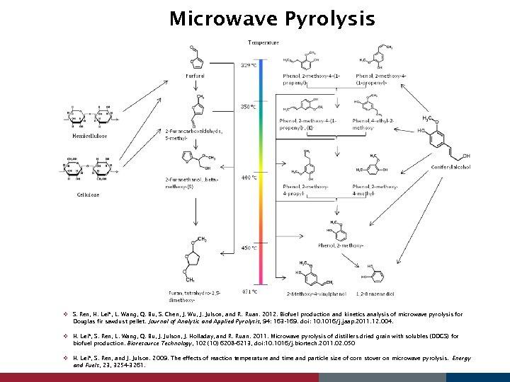 Microwave Pyrolysis v S. Ren, H. Lei*, L. Wang, Q. Bu, S. Chen, J.