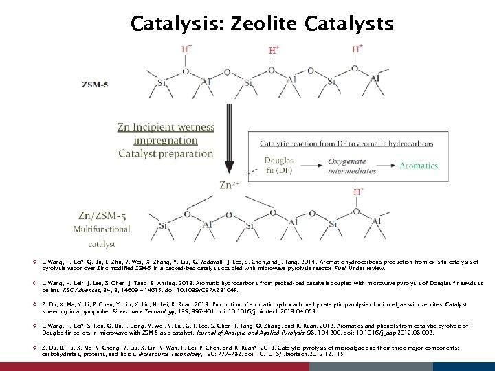 Catalysis: Zeolite Catalysts v L. Wang, H. Lei*, Q. Bu, L. Zhu, Y. Wei,