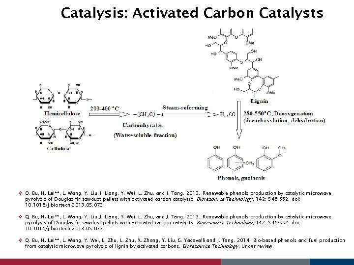Catalysis: Activated Carbon Catalysts v Q. Bu, H. Lei**, L. Wang, Y. Liu, J.