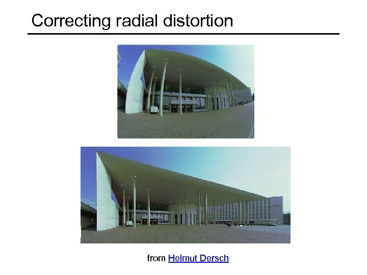 Correcting radial distortion from Helmut Dersch