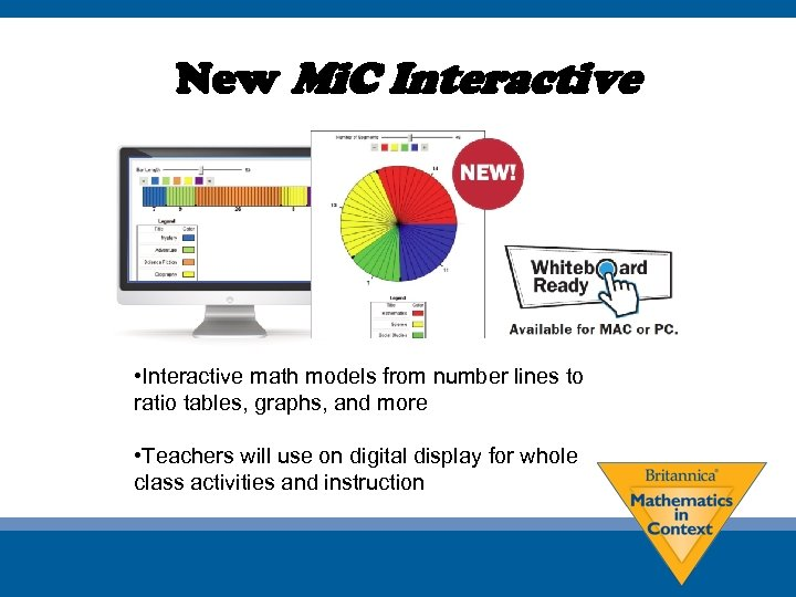 New Mi. C Interactive • Interactive math models from number lines to ratio tables,