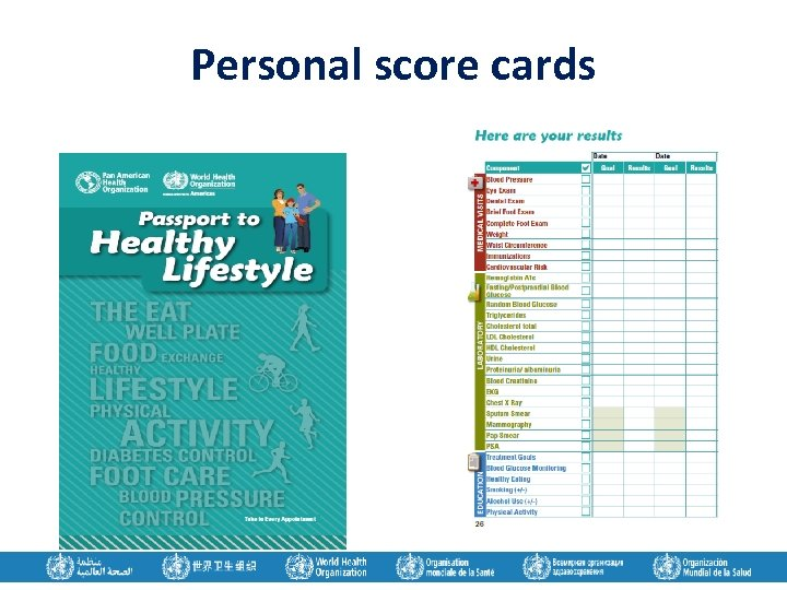 Personal score cards