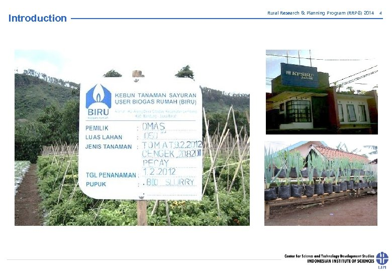 Introduction Rural Research & Planning Program (RRPG) 2014 4