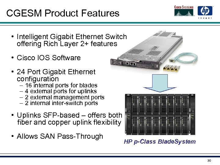 CGESM Product Features • Intelligent Gigabit Ethernet Switch offering Rich Layer 2+ features •