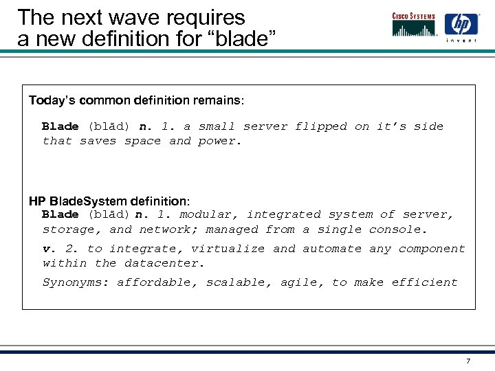 """The next wave requires a new definition for """"blade"""" Today's common definition remains: Blade"""