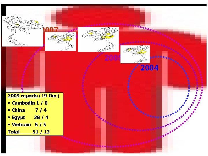 2007 2006 2005 2004 2009 reports (19 Dec) • Cambodia 1 / 0 •