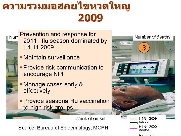ความรวมมอสภยไขหวดใหญ 2009 Prevention and response for 1 2011 flu season dominated by H 1