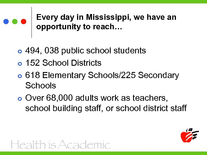 Every day in Mississippi, we have an opportunity to reach… 494, 038 public school
