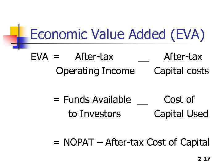 economic value In corporate finance, economic value added or eva is an estimate of economic profit, which can be determined, among other ways, by making corrective adjustments to gaap accounting.