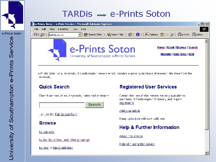 TARDis e-Prints Soton