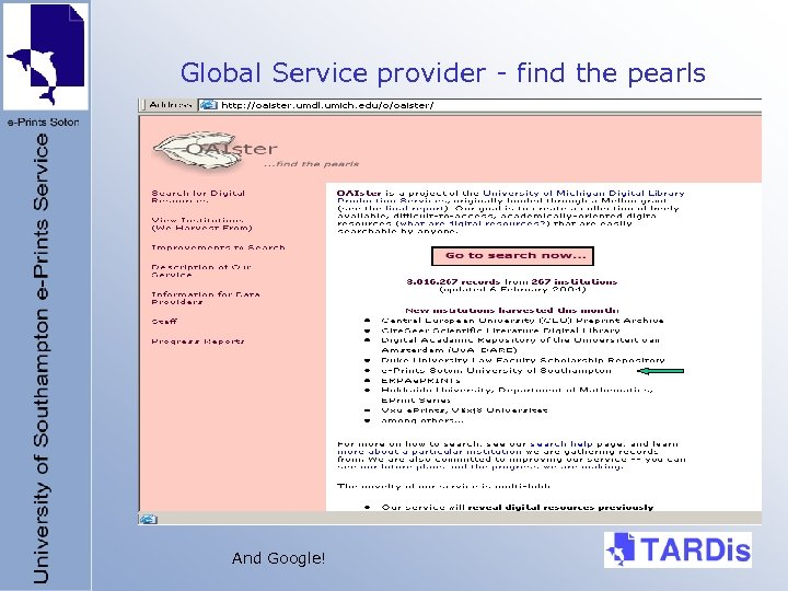 Global Service provider - find the pearls And Google!